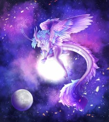 Cute Dragon Galaxy Wallpaper